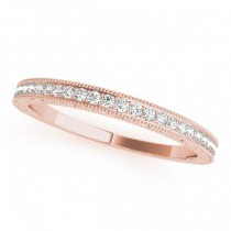 Diamond Prong Wedding Band Ring 18k Rose Gold (0.10ct)