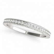 Diamond Prong Wedding Band Ring 18k White Gold (0.10ct)