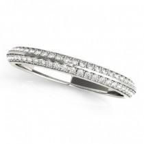 Diamond Multi-Row Wedding Band Ring Palladium (0.38ct)