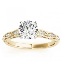 Diamond Elegant Shine Engagement Ring Setting 14k Yellow Gold (0.15ct)