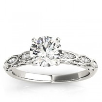Diamond Elegant Shine Engagement Ring Setting Platinum (0.15ct)