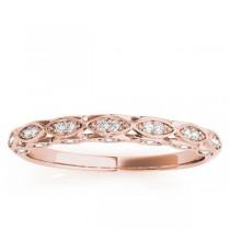 Elegant Diamond Wedding Ring Band 18k Rose Gold (0.18ct)|escape