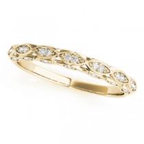 Elegant Diamond Wedding Ring Band 18k Yellow Gold (0.18ct)