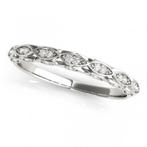 Diamond Contoured Sideways Pears Wedding Band Platinum (0.18ct)