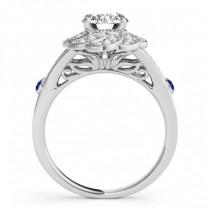 Diamond & Tanzanite Floral Bridal Set Setting Platinum (0.35ct)