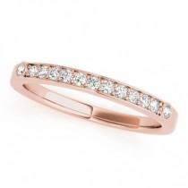 Diamond Prong & Bezel Set Wedding Band Ring 14k Rose Gold (0.10ct)