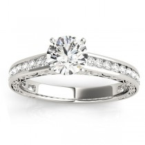 Diamond Channel Set Engagement Ring 14k White Gold (0.42ct)