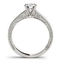Diamond Channel Set Engagement Ring 18k White Gold (0.42ct)
