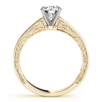 Diamond Twisted  Bridal Set 14k Yellow Gold (0.87ct)