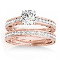 Diamond Twisted  Bridal Set 18k Rose Gold (0.87ct)