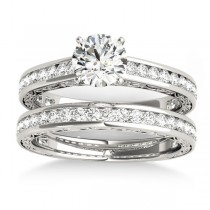 Diamond Twisted  Bridal Set 18k White Gold (0.87ct)