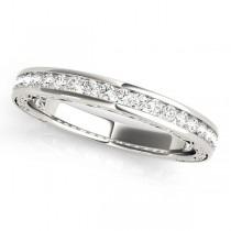 Diamond Channel Set Wedding Band 14k White Gold (0.45ct)