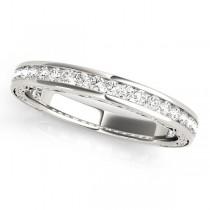 Diamond Channel Set Wedding Band 14k White Gold (0.45ct)