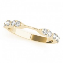 Diamond Prong Wedding Band 18k Yellow Gold (0.42ct)