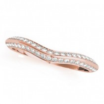 Diamond Contoured Wedding Band 14k Rose Gold (0.20ct)