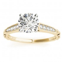 Diamond Accented Engagement Ring Setting 18K Yellow Gold (0.16ct)