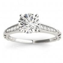 Diamond Accented Engagement Ring Setting Platinum (0.16ct)