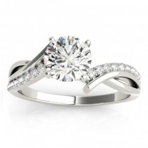 Diamond Twist Bypass Engagement Ring Setting Palladium (0.09ct)