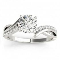 Diamond Twist Bypass Bridal Set Setting Palladium (0.17ct)