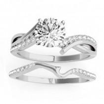 Diamond Twist Bypass Bridal Set Setting Platinum (0.17ct)