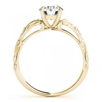 Diamond Antique Style Engagement Ring 14k Yellow Gold (0.03ct)