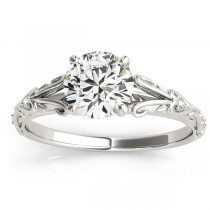 Diamond Antique Style Engagement Ring Platinum (0.03ct)