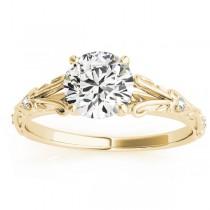 Diamond Antique Style Bridal Set 14k Yellow Gold (0.07ct)
