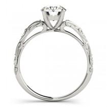 Diamond Antique Style Bridal Set Palladium (0.07ct)
