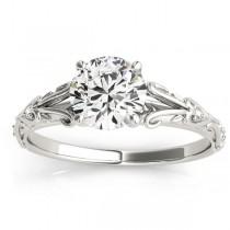 Diamond Antique Style Bridal Set Platinum (0.07ct)