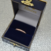 Diamond Antique Style Wedding Band 14k Rose Gold (0.04ct)