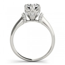 Diamond 6-Prong Solitaire Engagement Ring 14k White Gold (1.15ct)