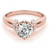 Diamond 6-Prong Solitaire Engagement Ring 14k Rose Gold (1.15ct)