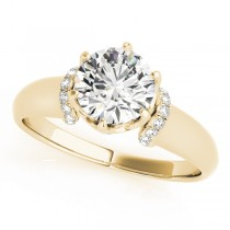 Diamond 6-Prong Solitaire Engagement Ring 14k Yellow Gold (1.15ct)