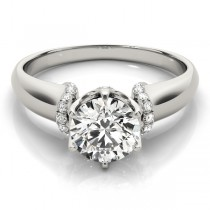Diamond 6-Prong Solitaire Engagement Ring Palladium (1.15ct)