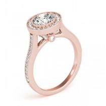 Diamond Accented Bridal Set Setting 18k Rose Gold (0.47ct)