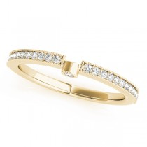 Diamond Semi-Eternity Wedding Ring Band 14k Yellow Gold (0.14ct)