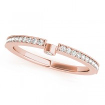 Diamond Semi-Eternity Wedding Ring Band 18k Rose Gold (0.14ct)
