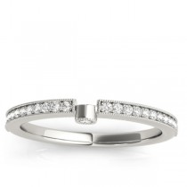 Diamond Semi-Eternity Wedding Ring Band 18k White Gold (0.14ct)