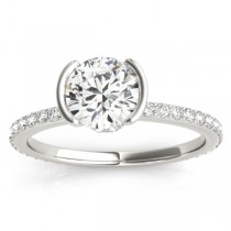 Diamond Engagement Ring Setting 14k White Gold (0.30ct)