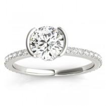 Diamond Engagement Ring Setting Palladium (0.30ct)