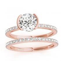 Diamond Bridal Set Setting 14k Rose Gold (0.56ct)