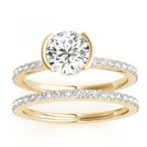 Diamond Bridal Set Setting 14k Yellow Gold (0.56ct)