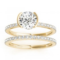 Diamond Bridal Set Setting 18k Yellow Gold (0.56ct)