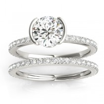 Diamond Bridal Set Setting Platinum (0.56ct)