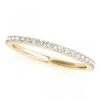 Stackable Diamond Wedding Ring Band 14k Yellow Gold (0.26ct)