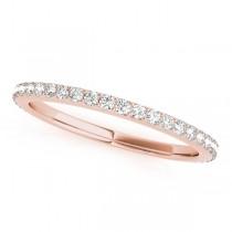 Stackable Diamond Wedding Ring Band 18k Rose Gold (0.26ct)