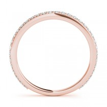 Stackable Diamond Wedding Ring Band 18k Rose Gold (0.26ct)|escape