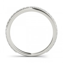 Stackable Diamond Wedding Ring Band 18k White Gold (0.26ct)