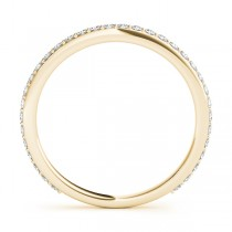 Stackable Diamond Wedding Ring Band 18k Yellow Gold (0.26ct)