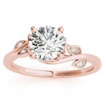 Diamond Spiral Floral Vine Engagement Ring Setting 18k Rose Gold (0.086ct)
